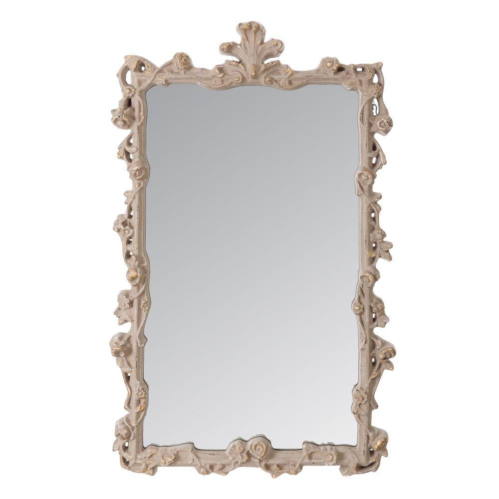 Espejo barroco en gris oro for Espejo gris plata