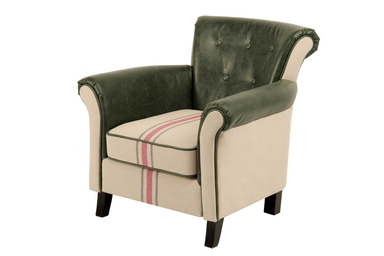 Butaca de cuero silln giratorio de cuero vintage y for Butaca giratoria ikea