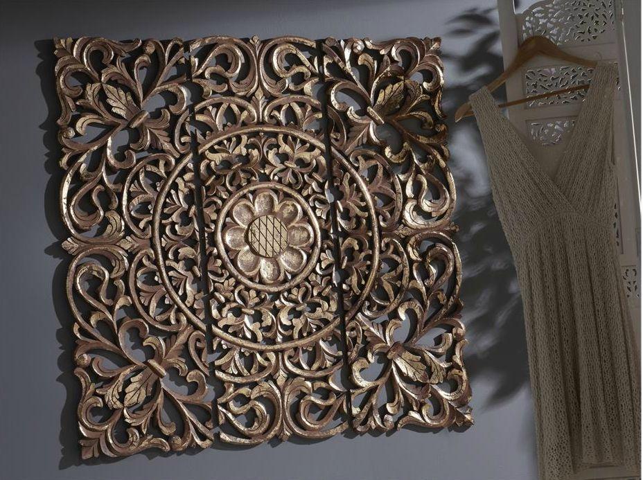 Panel tallado madera mesa para la cama - Paneles decorativos madera tallada ...