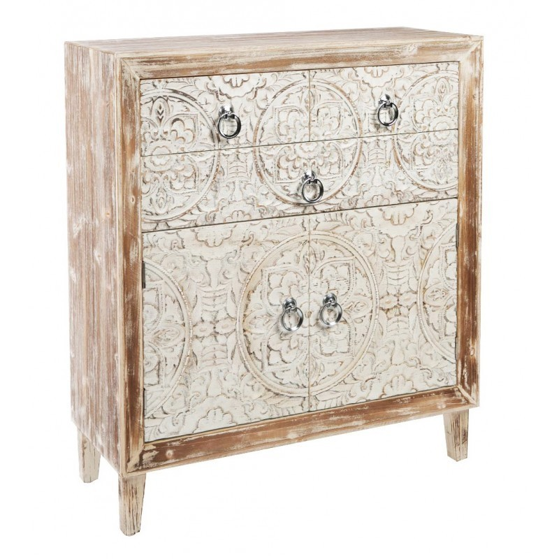 Mueble auxiliar madera tallada for Muebles auxiliares clasicos madera