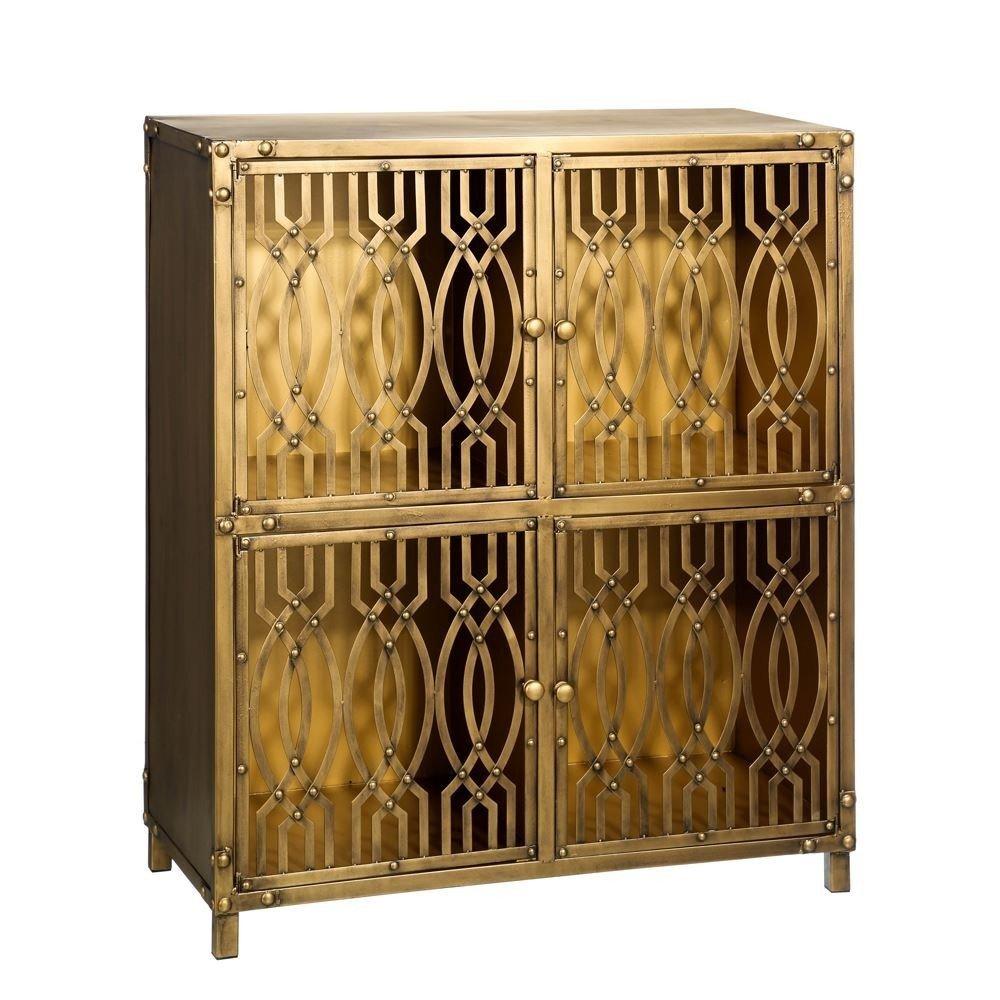 Auxiliar Metal Dorado # Muebles Dorados