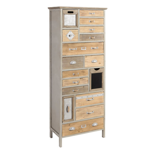 Mueble auxiliar madera gris